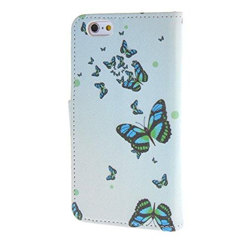 """MOONCASE pour iPhone 6 / 6S (4.7"""") Case Cuir Portefeuille Étui à rabat Case Coque en Housse de Protection YZ20 YZ12 #1228"""