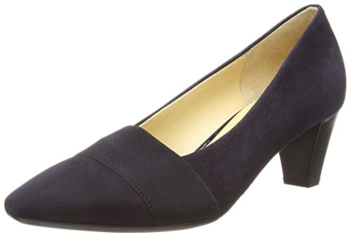Gabor Folky, Damen Pumps, Blau (Dunkelblaues Wildleder), 38.5 EU 5.5 UK