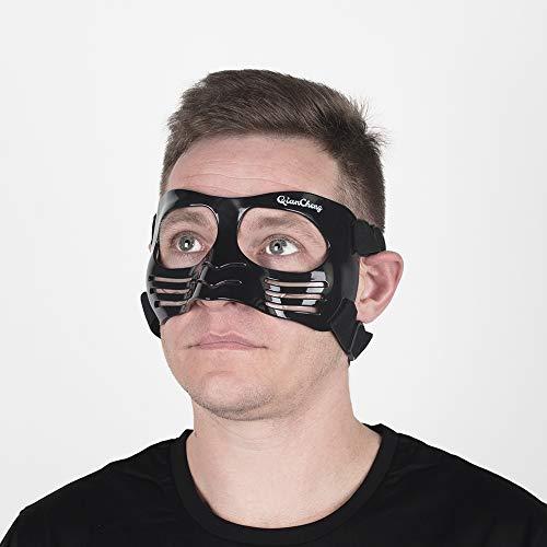 QianCheng - Maschera Protettiva per Naso, con Imbottitura in Silicone, Colore: Nero
