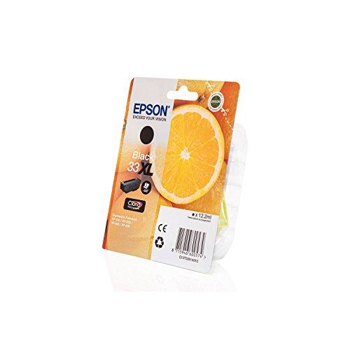 Original Epson C13T33514010 / 33XL, für Expression Premium XP-640 Series Premium Drucker-Patrone, Schwarz Foto, 12,2 ml