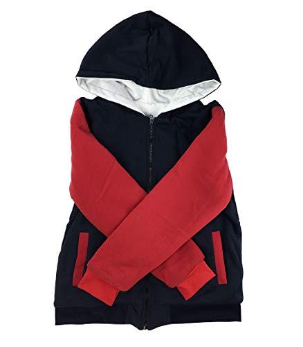 Speedeve giacca con cappuccio invernale da uomo, nero/blu/rosso