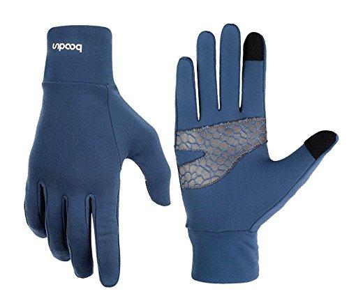 Flycoo - guanti termici per schermo touch di cellulari, accessori per bicicletta, ciclismo, campeggio, sport, guanti da donna e uomo, chic, fashion, blu, l/xl