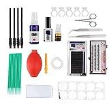 Grafting Eyelash Extension Kits False Lashes Tool Tweezers Ring Cup Cotton Swabs For