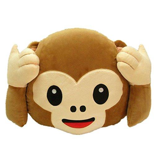Plüsch Affe Lachen Emoticon Kissen Stuhlkissen Sitzkissen Spielzeug Plüschtier