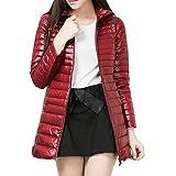 Rosso LaoZan Eleganti Trench Cappotto di Lana Blended da