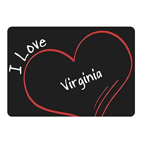 Mousepad Modern I Love Virginia schwarz