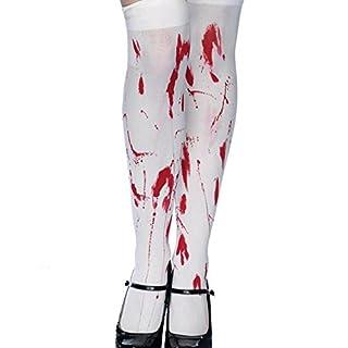 AIU 1 Paar Blutige Krankenschwester Socken Zombie Strümpfe Halloweenstrümpfe für Damen