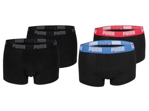 Puma 4er Pack Basic Short Boxer (S, schwarz/rotblau)