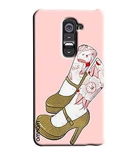 Omnam Girls Leg Pattern Printed Designer Back Cover Case For LG G2