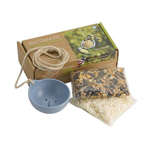 Eco Recycling-Vogelhaus-Birds-Set, plastik, blau, 76 Diameter (Bird Seed Feeder-kuchen)