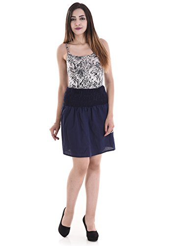 Attire Fashions Cotton Western Wear Short Skirt- Blue Color- Free Size