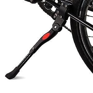 Fahrrad Seitenständer, FayTun Faltbarer Seitenständer Fahrrad Ständer Hinterbauständer Einstellbarer Universal Fahrradständer, Höhenverstellbar für Mountainbike, Rennrad, Faltrad (Schwarz)