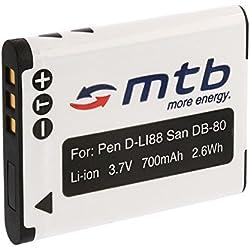 Batterie D-Li88 pour Pentax Optio H90, P70, P80, W90, WS80 / Sanyo DB-L80...+ voir liste!