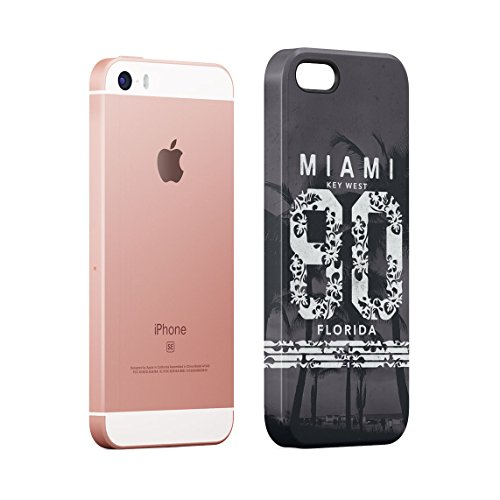 Miami Is Always A Good Idea Holiday Plan Chilling Under Miami Sun Custodia Posteriore Sottile In Plastica Rigida Cover Per iPhone 7 & iPhone 8 Slim Fit Hard Case Cover Miami 80
