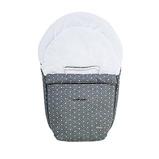 Altabebe AL2610KJ-77 Winterfußsack für Babyschale, Downtown Kollektion, grau