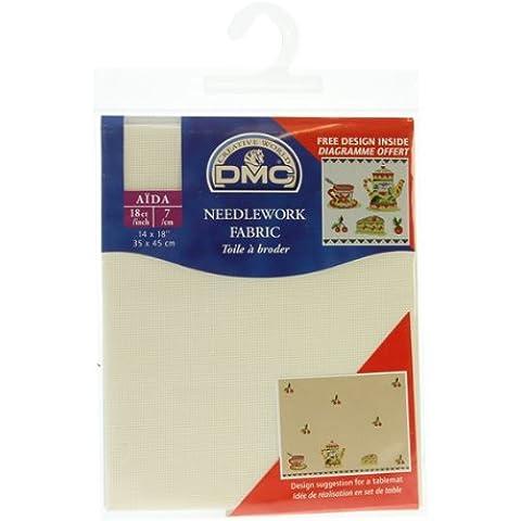 DMC TESSUTI pretagliati AIDA (100% Aida / cotone) DC37 (18 conta 70 occhi) Ecru (Giappone import / Il pacchetto e il manuale sono scritte in