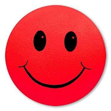 Tenna Tops - Red Smiley Happy Face Antenna Topper / Antenna Ball / Mirror Dangler