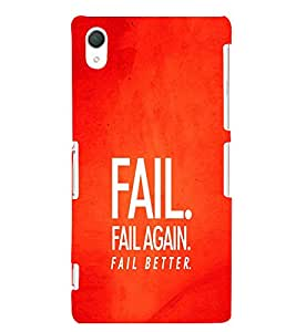 EPICCASE Fail, Fail Again and Fail Better Mobile Back Case Cover For Sony Xperia Z2 (Designer Case)