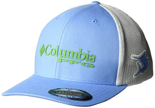 Columbia Herren PFG Mesh Ball Cap, Unisex Herren, PFG MeshTM Ball Cap, White Cap, Marlin, Large/X-Large Columbia-mesh-hut