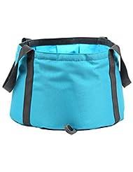 Tela resistente al agua, bolsas Ultra Portable forma multifuncional plegable plegable agua Bucketfor pesca Camping lavado cuenca senderismo viajes jardinería incluido (paquete de 2)