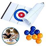 Leikance Curling Board Spiel, kompaktes Spiel, tragbare Mini-Tisch-Spiele für Familie, Schule, Reisen