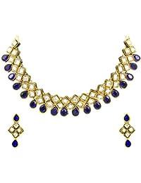 Zaveri Pearls Cubical Style kundan Necklace Set for Women -ZPFK4140