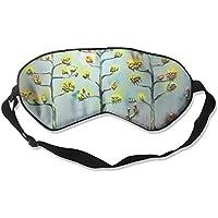 Sleep Eye Mask Oil Tree Flowers Lightweight Soft Blindfold Adjustable Head Strap Eyeshade Travel Eyepatch E6 preisvergleich bei billige-tabletten.eu