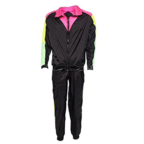 80er Trainingsanzug Jogging Anzug Fitness Sport Hose Jacke Sportanzug Assianzug Fancy Dress Halloween