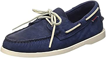 Sebago Docksides - Chaussures bateau - Homme  Bleu (Navy Nubuck) 46 EU