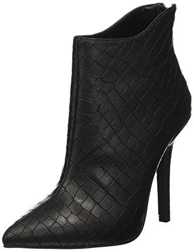 BUFFALO - B334e-41a E0094a Croc Pu, Stivali bassi con imbottitura leggera Donna Nero (nero (black 01))