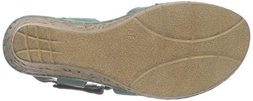 Manitu Damen 920215 Geschlossene Sandalen mit Keilabsatz Grün (Grün)