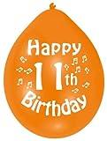 Amscan 22.8 cm  11. Geburtstag 10 Luftballons
