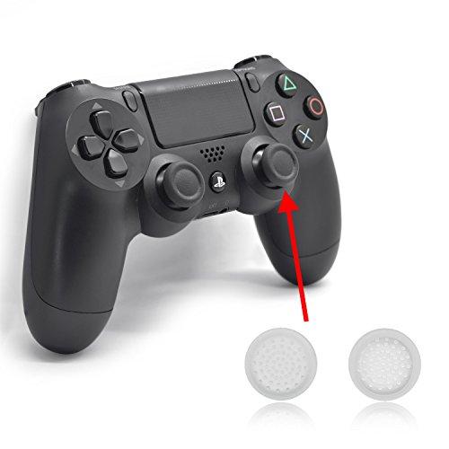 iProtect 6 protezioni in silicone per il dispositivo senza fili Dualshock Wireless di Sony Playstation 4in trasparente