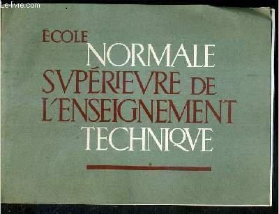 ECOLE NORMALE SUPERIEURE DE L'ENSEIGNEMENT TECHNIQUE