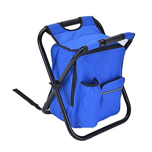 Wandern und Angeln Blau Newin Star Rucksack Hocker Picknick Camping zusammenklappbarer Camping Stuhl mit Rucksack und Ablagef/ächer Leichten Rucksack Stuhl in Einer Tasche f/ür Outdoor