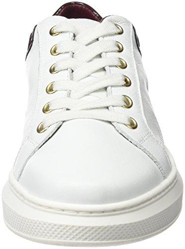 Tommy Hilfiger S1285Abrina 1A, Pompes à plateforme plate femme Blanc (White/decadent Chocolate 214)