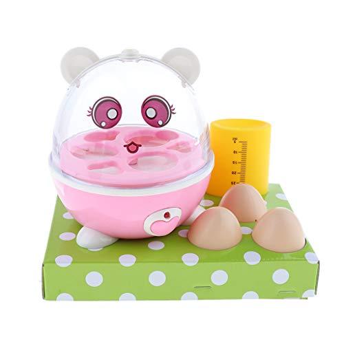 FLAMEER Kinder Küche Rollenspiel Elektrischer Küchengeschirr Eierkocher Kessel Spielzeug mit Musik und Licht