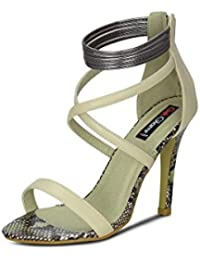 Get Glamr Women's Beige Sandals - B072F38KRY