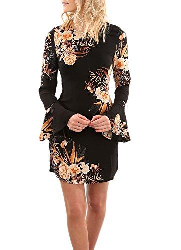7484e1b95ba8 Donna Vestiti Chiffon Invernali Corti Eleganti Da Cerimonia Vintage ...