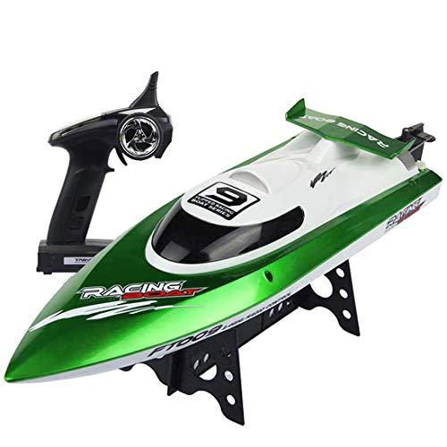deAO RC Race Boot High Speed Fernbedienung Boot 150m Reichweite 30km/h Leistungsstark RC Rennboot Kühlsystem und Auto Flip (grün)