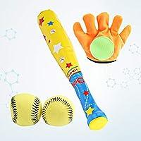 Toyvian 4 unids Juguetes Deportivos para niños béisbol Deportes de Ocio Guante y Pelota Suave Conjunto de Juguetes para niños toddlerchristmas Regalos de año