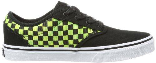 Vans Y ATWOOD (DYE-CHECK) BLA, Sneaker unisex bambino Multicolore (Checkered Jacquard White)
