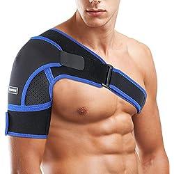SGODDE Schulterbandage Verstellbare Schulter Unterstützung Bandage, Verletzungen,Schulterschmerzen, arthritische Schultern, Neopren Schulterwärmer, für Linke/Rechte Schulter, Männer/Frauen