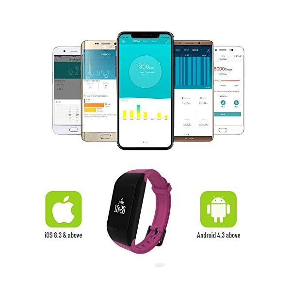 Fitpolo Pulsera de Actividad,Reloj Inteligente para Hombre y Mujer, IP68 Impermeable Reloj Deportivo con Rtmo Cardíaco… 9
