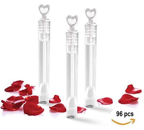 TellementHappy 96 Flacon De Bulle de Savon pour Mariage Anniversaire Baptême et Fiançailles idéal Cadeau pour Les invités