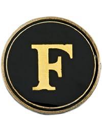 Cath Kidston Anstecker / Abzeichen, rund, mit aufgedrucktem Alphabet-Einsatz