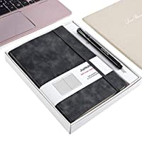 JoyNote Journal Softcover Ruled Notebooks with Elastic Closure Medium A5 Size,96 Sheets/192 Pages,21cm¡Á14.5cm,Softcover Bound Notebooks/Journals/Diary ST1 Gray