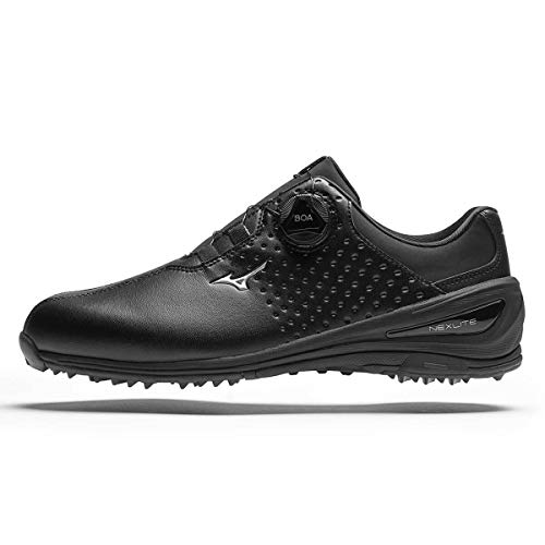 Mizuno , Chaussures de Golf pour Homme - Noir - Noir, 42.5...