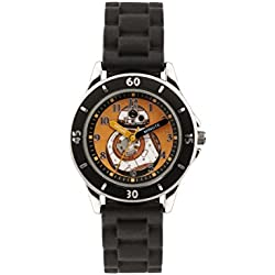 Star Wars Boy's Quartz Watch with Multicolour Dial Analogue Display and Black Silicone Strap SWM3046