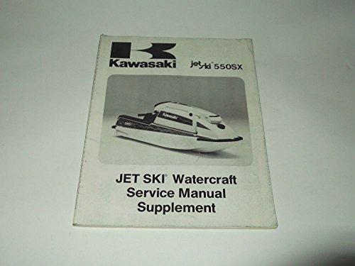 MANUAL SUPPLEMENT KAWASAKI WATERCRAFT JET SKI JS-550-C1 1991